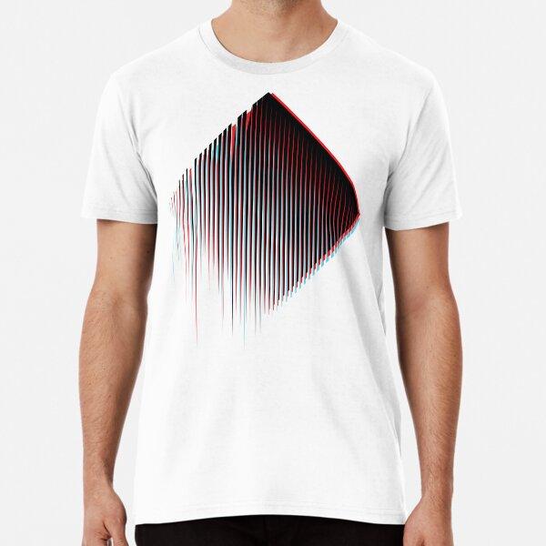3D Minimal Techno Chaos Premium T-Shirt