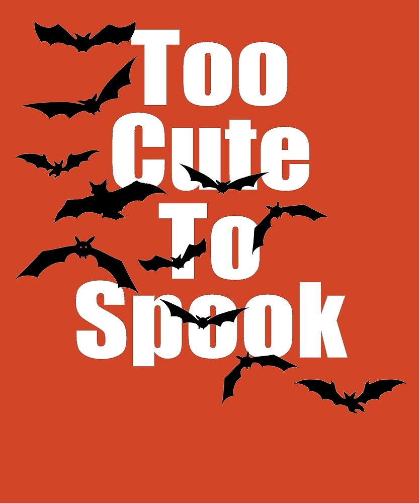 Scary Halloween Black Vampire Bats Too Cute To Spook by amtsales