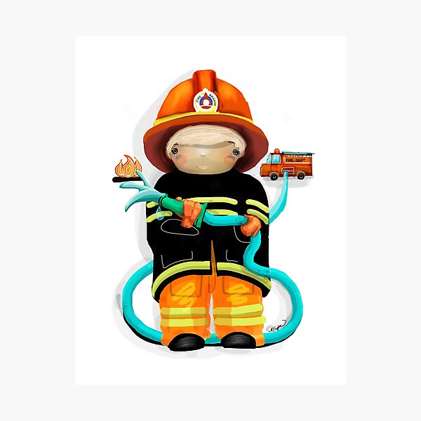 The Little Firefighter Photographic Print
