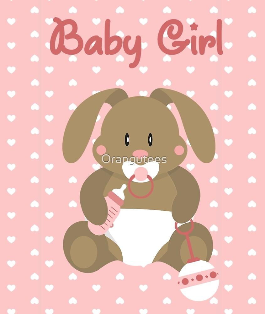 Baby Girl Bunny by Orangutees