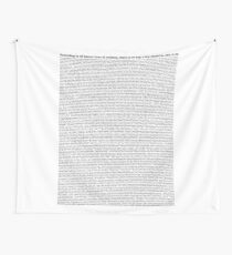 bee movie script (all script) Wall Tapestry