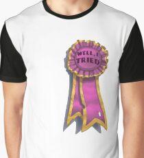 """I Tried"" Ribbon Graphic T-Shirt"