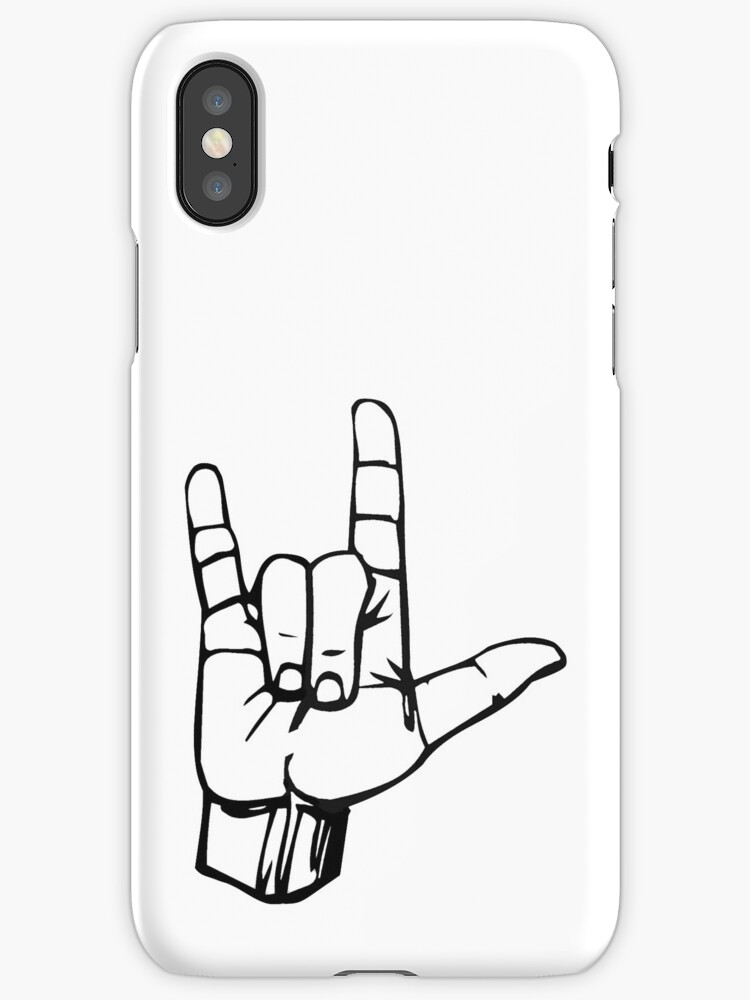 Hand I Love You Ily Sign Language Symbol Gesture Iphone Cases