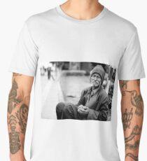 Homeless Man In Suit Men's Premium T-Shirt