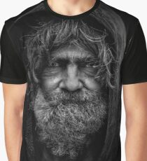 Homeless Man In Hoodie Graphic T-Shirt