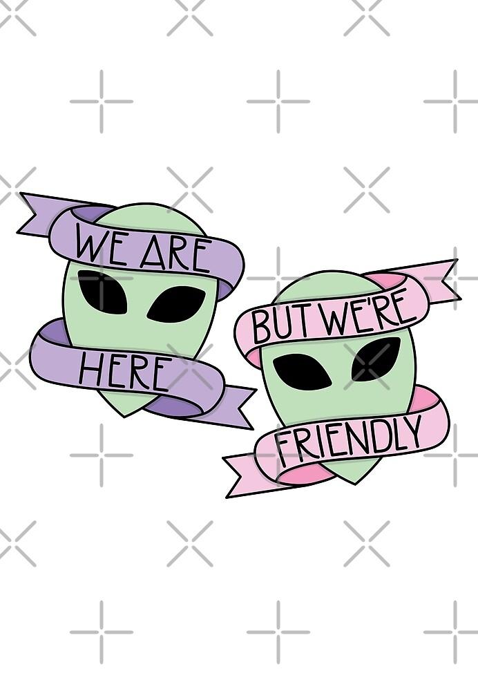 Friendly Aliens by HughAndWest