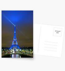 La Tour Eiffel En Bleu Postcards