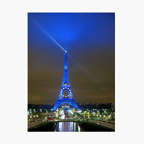La Tour Eiffel En Bleu Photographic Print