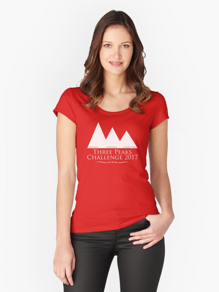 Three Peaks 2017 Women's Fitted Scoop T-Shirt Front