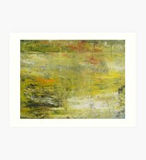 Yellow Non Representational Painting  Art Print