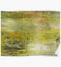 Yellow Non Representational Painting  Poster