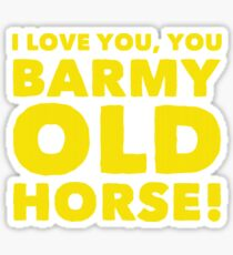 Barmy Old Horse Sticker