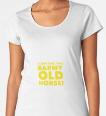 Barmy Old Horse Women's Premium T-Shirt