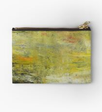 Yellow Non Representational Painting  Studio Pouch