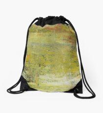 Yellow Non Representational Painting  Drawstring Bag