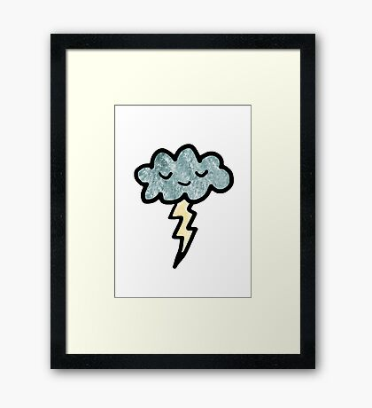Thunder cloud Framed Print