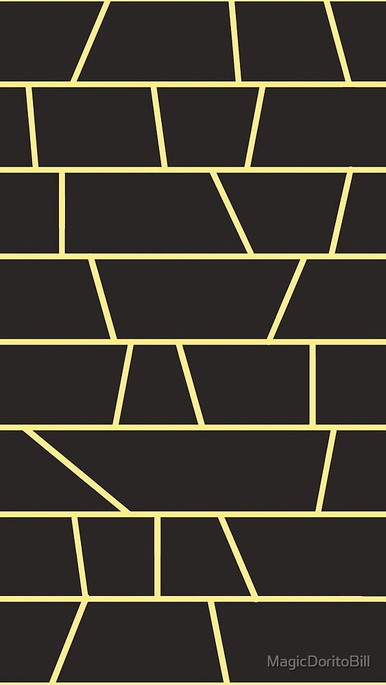 Black and Yellow Bricks by MagicDoritoBill