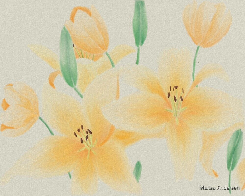 Lilies and Tulips by Marisa Andersen