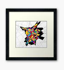 Pikachu Arte Lineal Framed Print