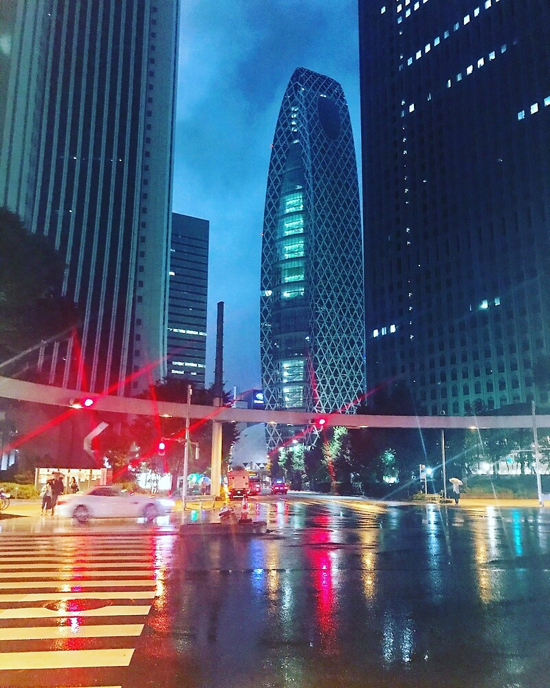 Shinjuku Lights by aegistahl
