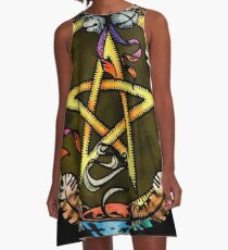 The Pentacle of Air A-Line Dress