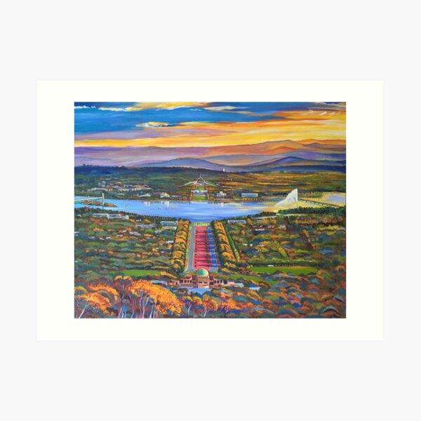 Canberra Panorama Art Print