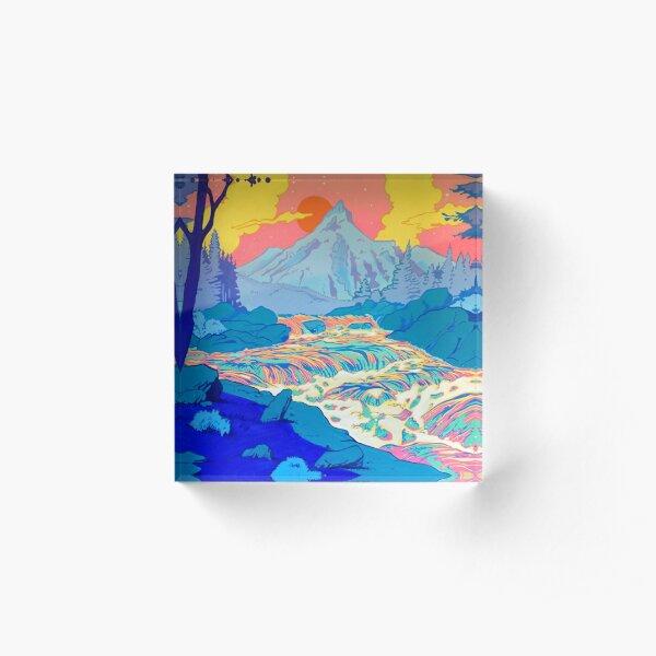 River Acrylic Block