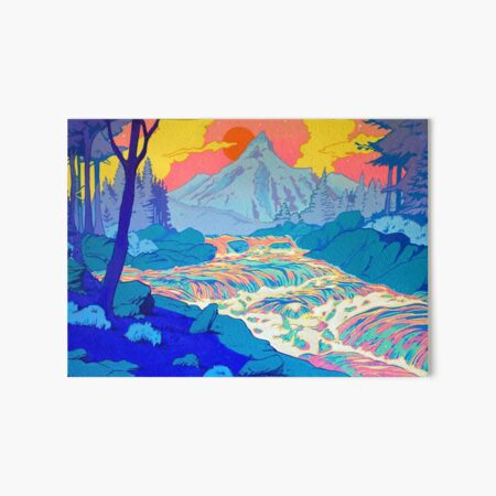 River Art Board Print
