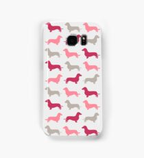 Pretty Pink - Dachshund Pattern Samsung Galaxy Case/Skin