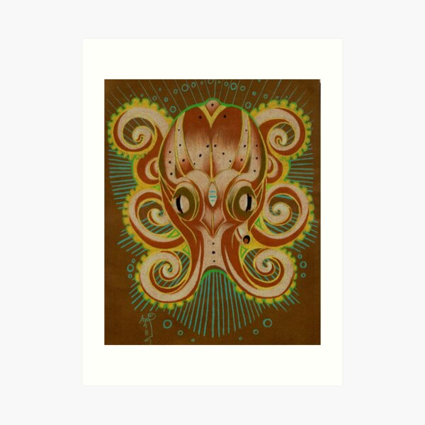 octopus totem art Art Print