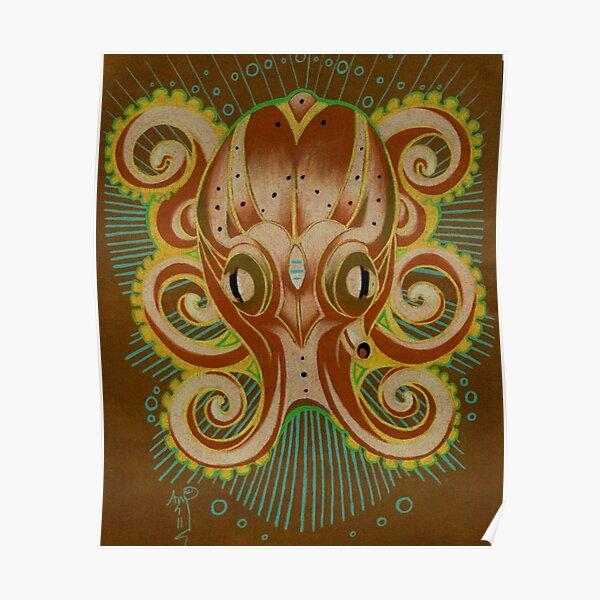 octopus totem art Poster