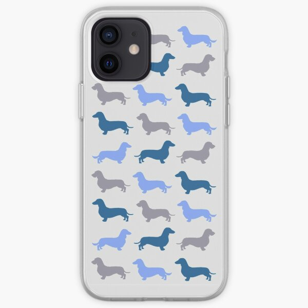 Cool Blue - Dachshund Pattern iPhone Soft Case