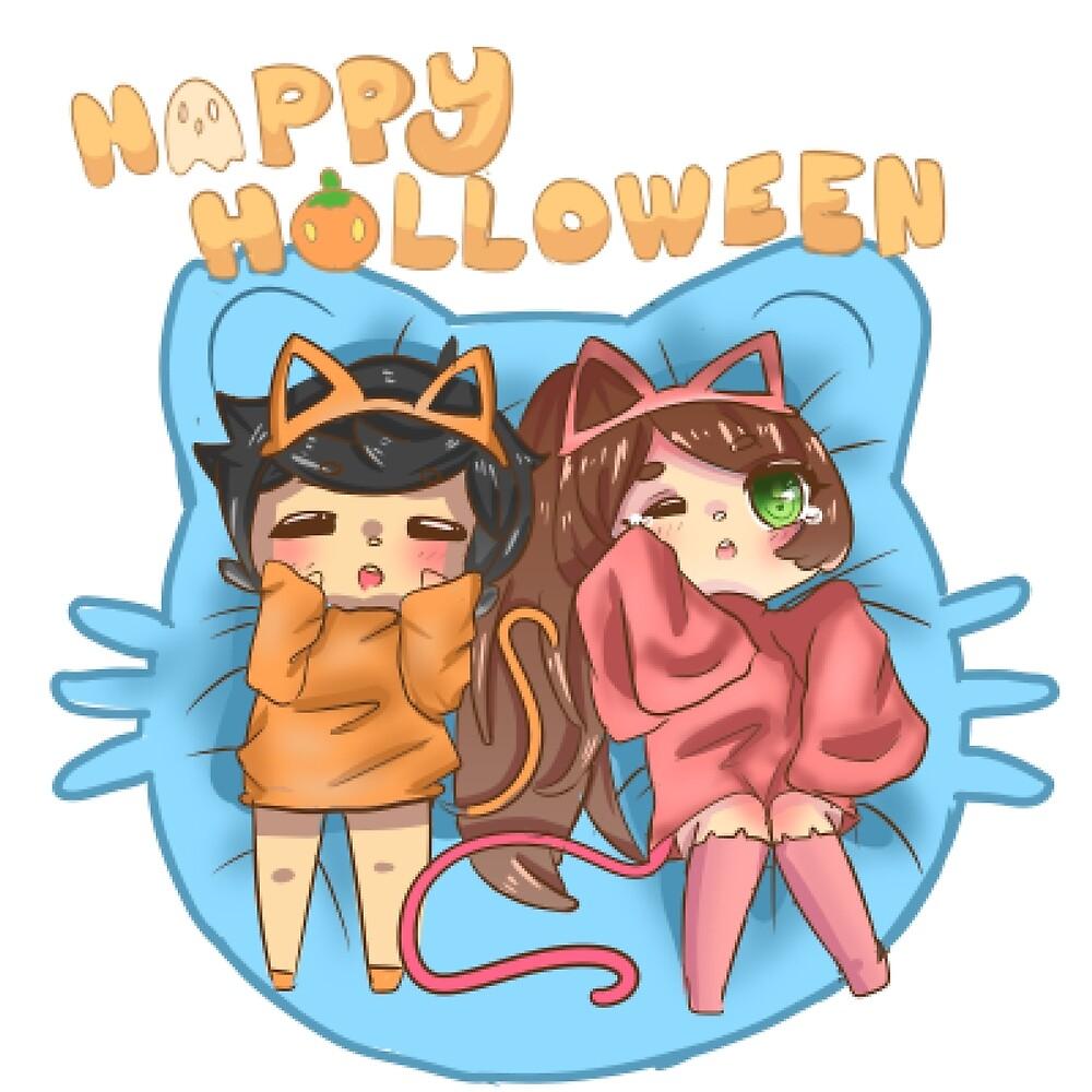 Kitty Halloween by KindaAnArtist