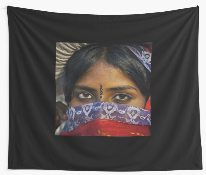 Gypsy Eyes - Wall Tapestry by Glen Allison