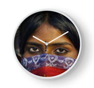 Gypsy Eyes - Clock by Glen Allison