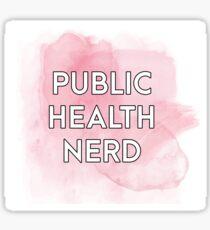 Public Health Nerd - Pink Watercolor Sticker