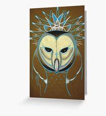 icy barn owl totem Greeting Card