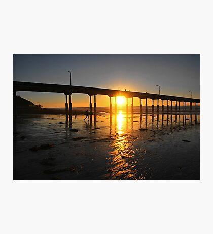 Sunset Through the Pier Photographic Print