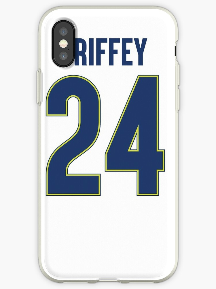 timeless design 58368 f218b 'Baseball Mens #24 Ken Griffey Jr. Alternate Green Cool Replica Player  Jerseys' iPhone Case by JustBeAwesome