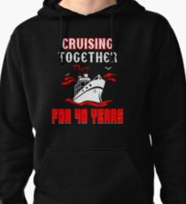Top T-shirt For 40th Wedding Anniversary, Fashion Anniversary Gifts For Couple Pullover Hoodie