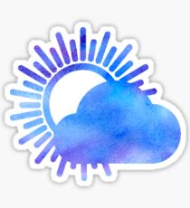 WITH CONFIDENCE - Better Weather Logo Watercolor Sticker