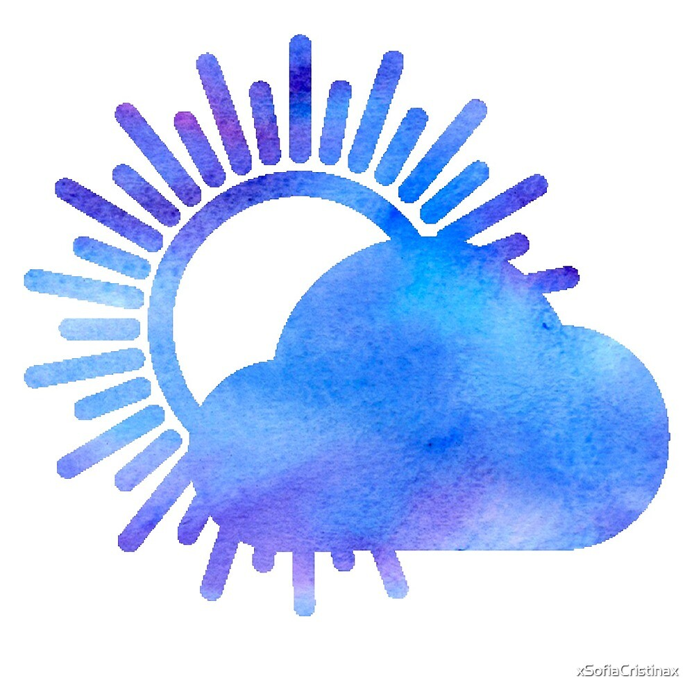 WITH CONFIDENCE - Better Weather Logo Watercolor by xSofiaCristinax
