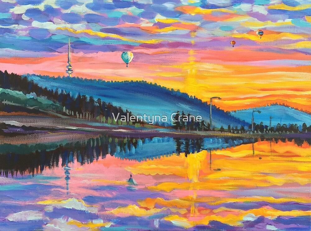 Early Spring Morning, Ginkgo Dam  by Valentyna Crane