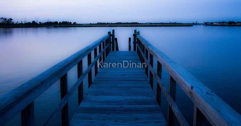 Blue Pier  by KarenDinan