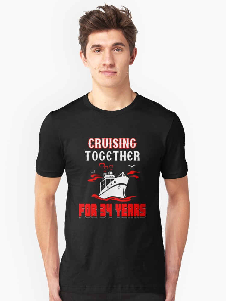 Top T-shirt For 34th Wedding Anniversary, Fashion Anniversary Gifts For Couple Unisex T-Shirt Front