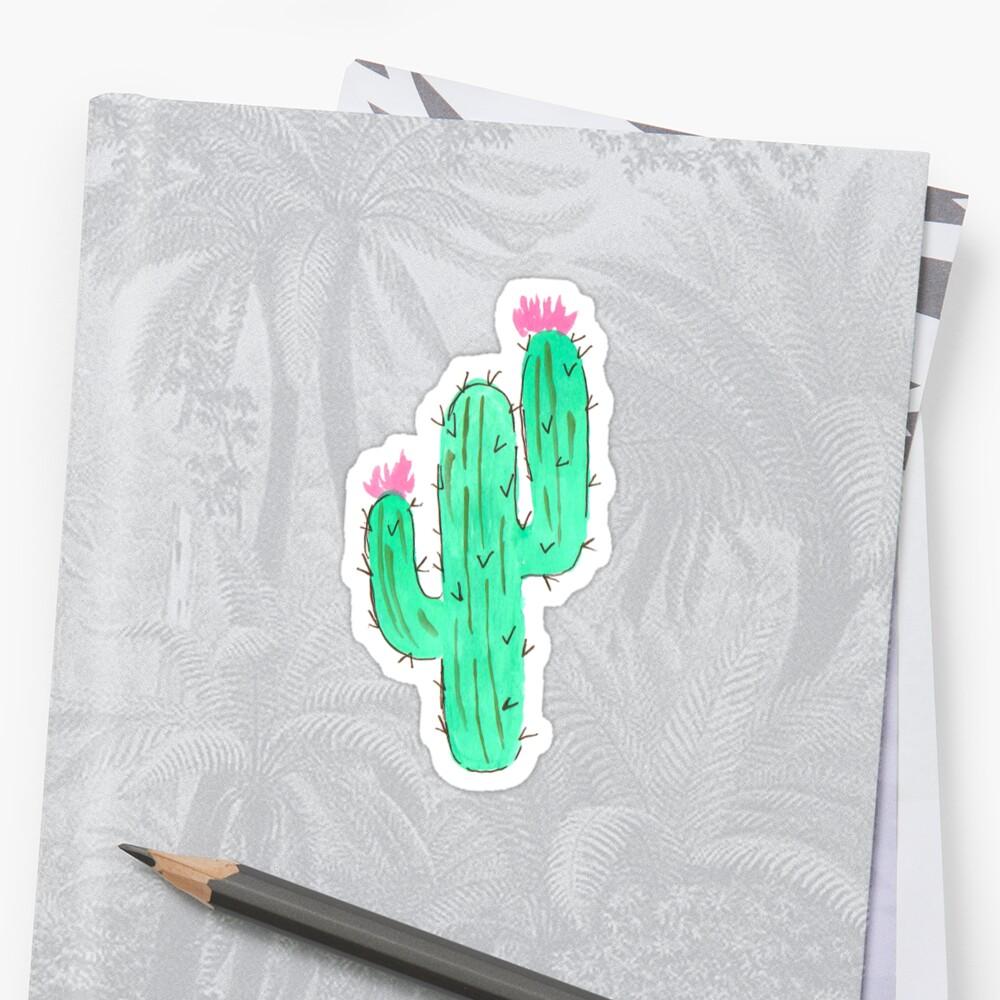 Watercolor Cactus, Cute Succulent Art by EarthlyIndigo