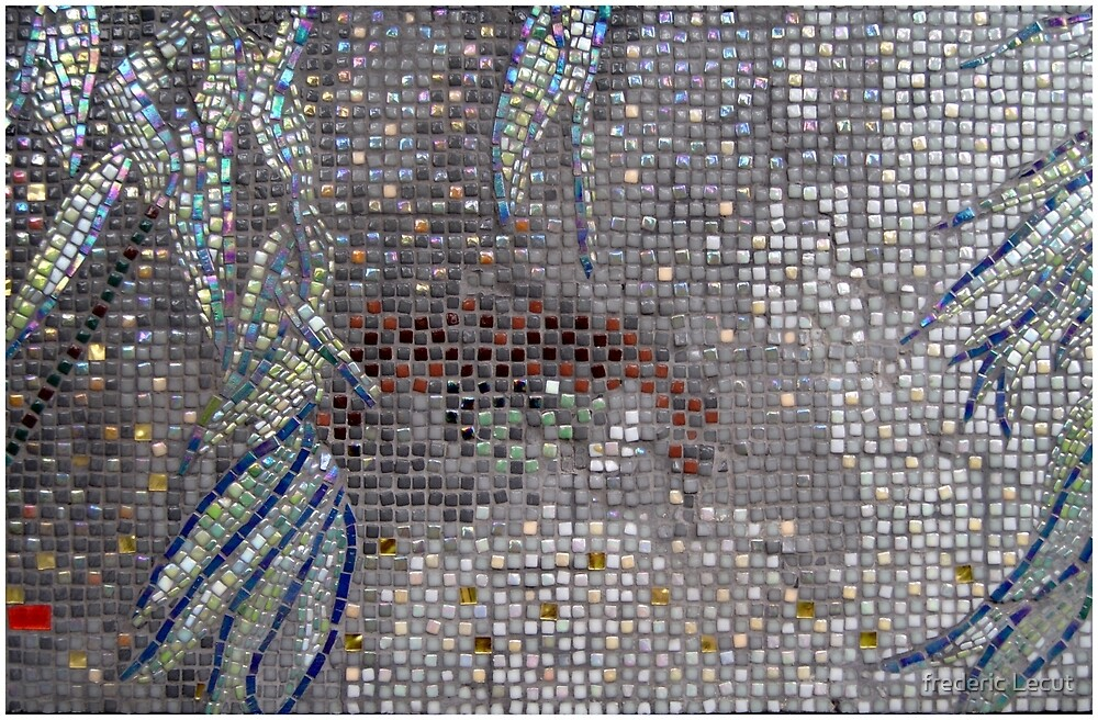 Carole's Eyes Mosaic, Right, Horizontal by frederic Lecut