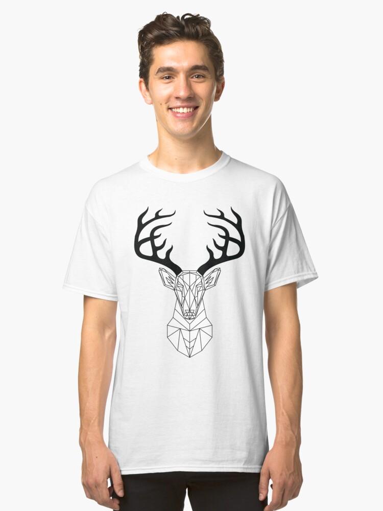 Geometric Deer Logo Classic T-Shirt Front