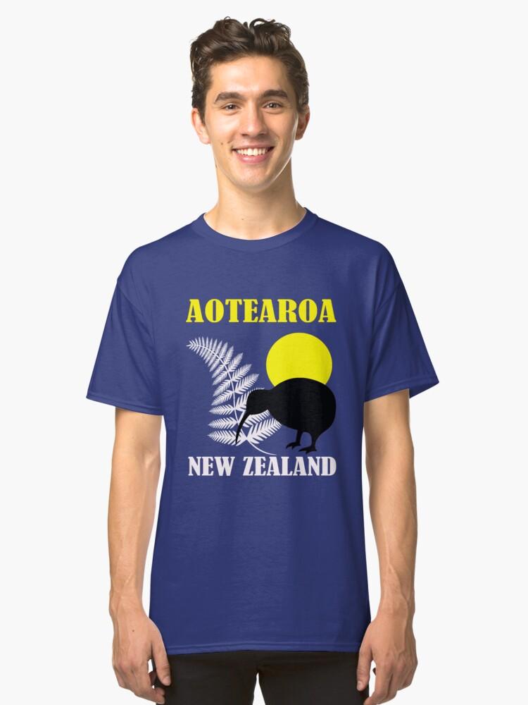 NZ-FERN KIWI Classic T-Shirt Front