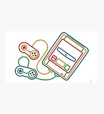 Super Famicom Boxart Photographic Print